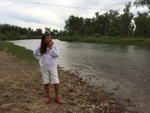 Alaina Buffalo Spirit, Northern Cheyenne, on the Tongue River near her family's land.