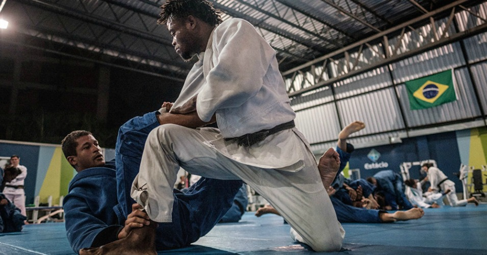 Popole Misenga, a judo athlete from the Democratic Republic of Congo. (Photo: AFP)