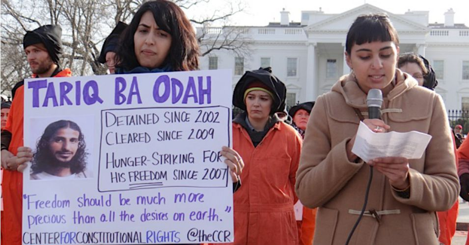 At a protest marking the 13th anniversary of Gitmo, in front of the White House, in January 2015. (Photo: Debra Sweet/flickr/cc)