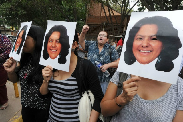 """Most murders go unpunished [in Honduras],"" observed School of the Americas Watch. (Orlando Sierra/AFP/Getty Images)"