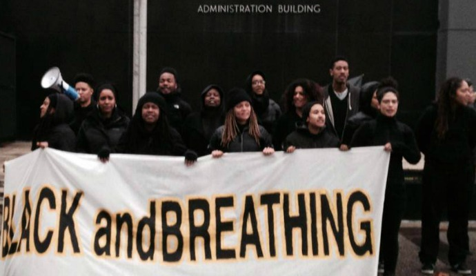 """We fight for justice for every single Black life that has passed at the hands of police, but we must also stand up and shut down for the Black and breathing who are at risk of the same fate,"" said organizer Deirdre Smith. (Photo: BlackOut Collective)"