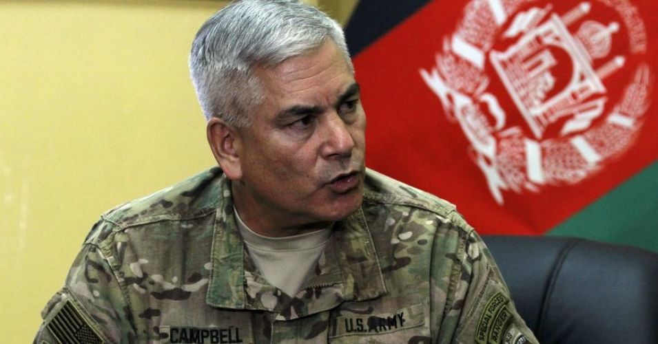 General John F. Campbell pictured in Kabul, Afghanistan, Saturday, May 23, 2015. (Photo: Allauddin Khan/AP)
