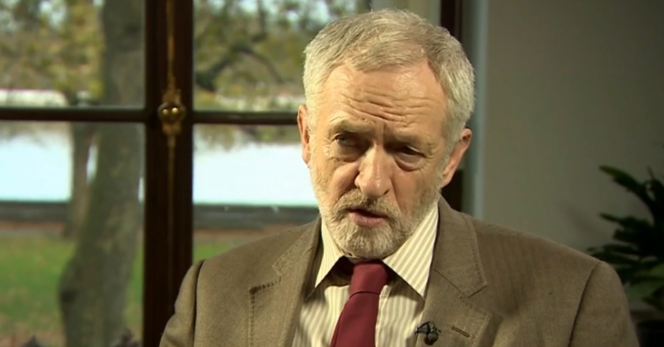 "Labour leader Jeremy Corbyn has warned that following the Paris attacks it is ""vital...not to be drawn into responses that feed a cycle of violence."" (Screenshot via BBC)"