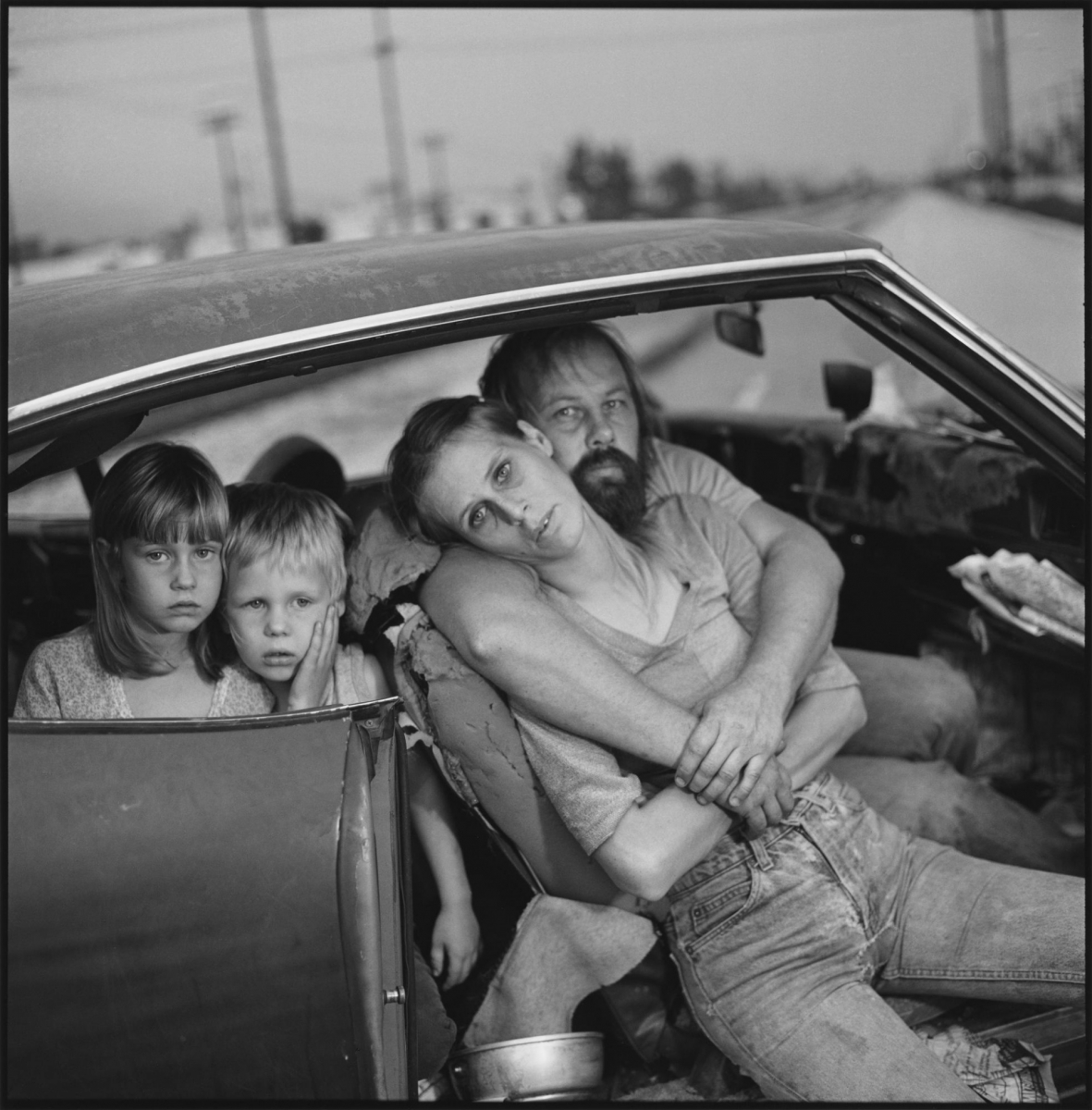 The Damm family in their car, Los Angeles, California, 1987