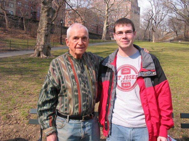 Dan Berrigan and Luke Hansen in 2007. (WNV/Luke Hansen)