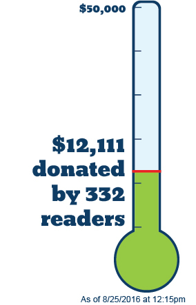 Thermometer - $38,000 left to go!