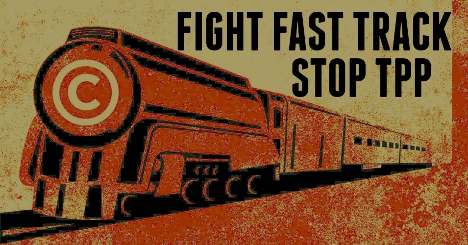The House on Friday kicked the can further down the road on Fast Track. (Credit: EFF w/overlay)