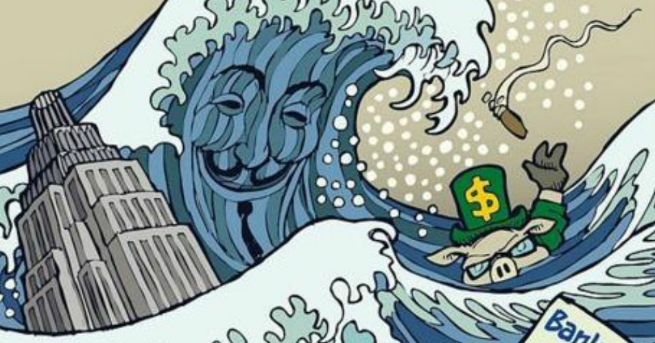 #FloodWallStreet: Protesters Stage Mass Action to Confront Climate Profiteers (Live Video)