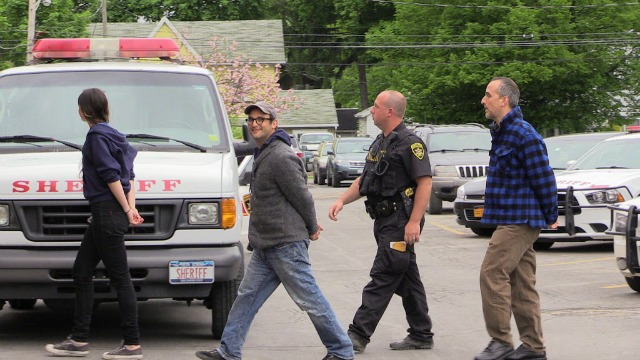 Documentary director Josh Fox was taken into custody Wednesday, charged with trespassing, and released. (Photo: We Are Seneca Lake)