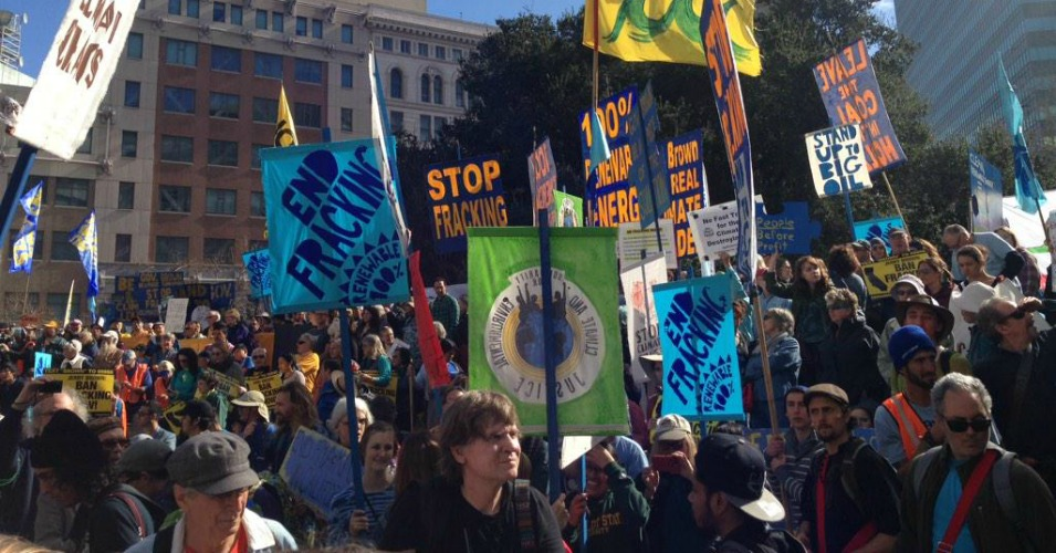 Thousands kick off march demanding end to fracking in California Saturday, Feb. 7. (Photo: Don't Frack CA)