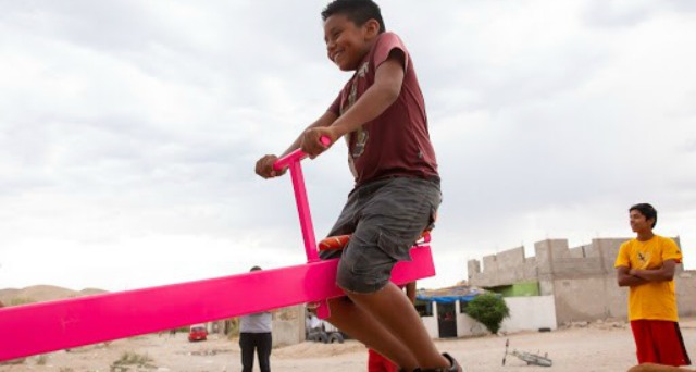 A Seesaw At the Border, Because What Goes Up Goes Down