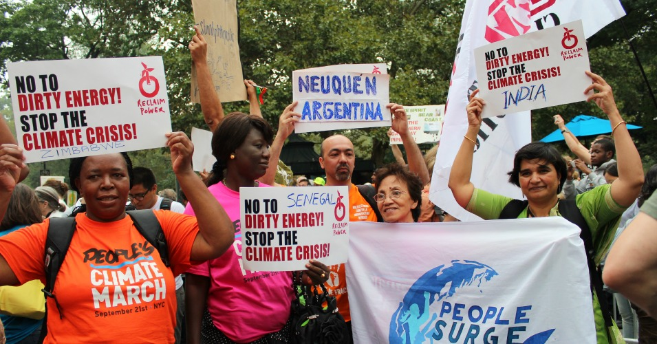 Global communities unite at the People's Climate March on September 21, 2014. (Common Dreams: CC BY-SA 3.0 US)
