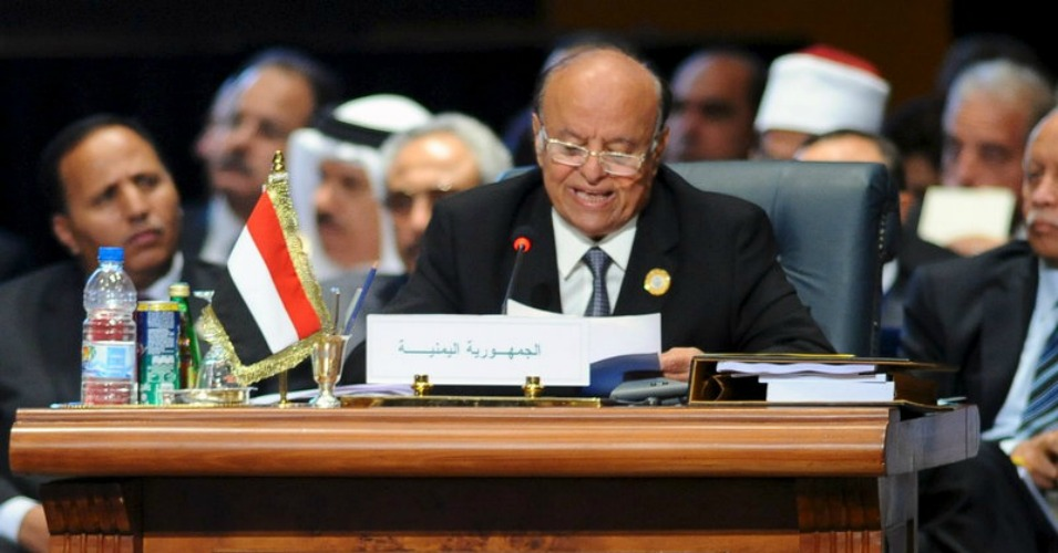 While Yemen President Abedrabbo Mansour Hadi, pictured here, called for further attacks on his country, Gulf officials said the strikes could last as long as six months. (Photo: Reuters/ Landov)