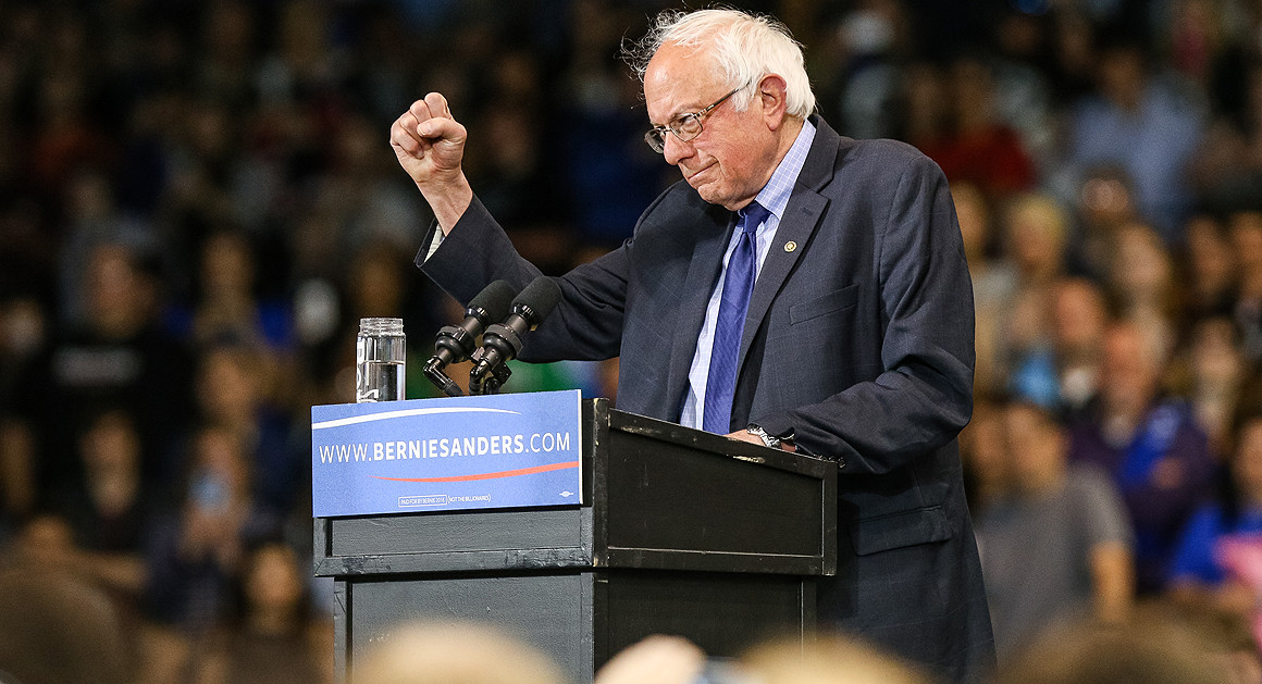 The speech of bernie sanders during his presidential campaign announcement
