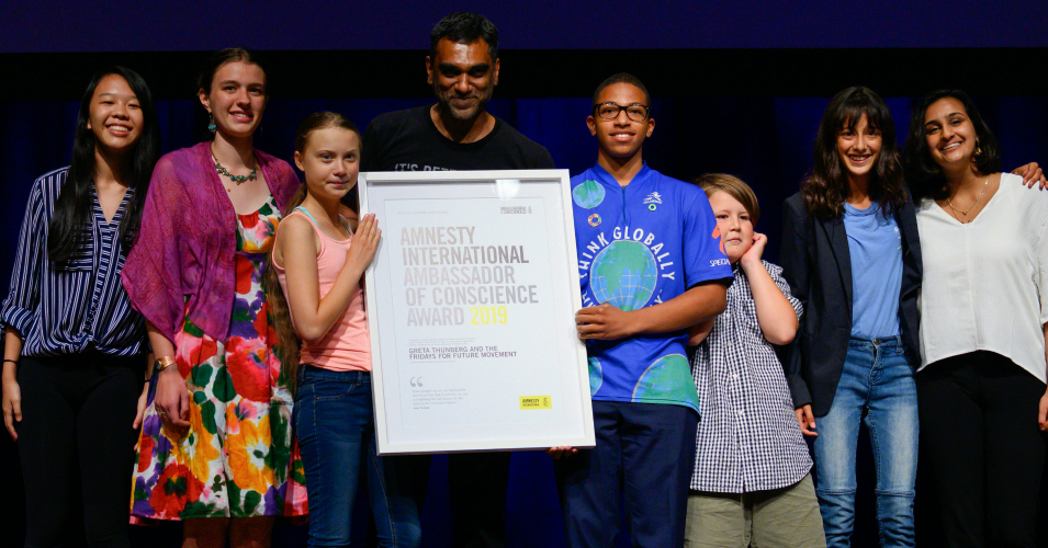 'There Is an Awakening Going On': Greta Thunberg Honored With Amnesty's Top Award Days Before Global Climate Strikes