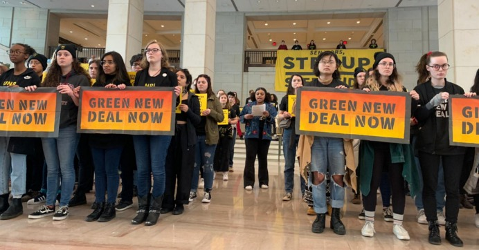 'Done Playing by the Rules,' 20 Sunrise Activists Arrested at Capitol Protest Demanding Lawmakers Back Green New Deal