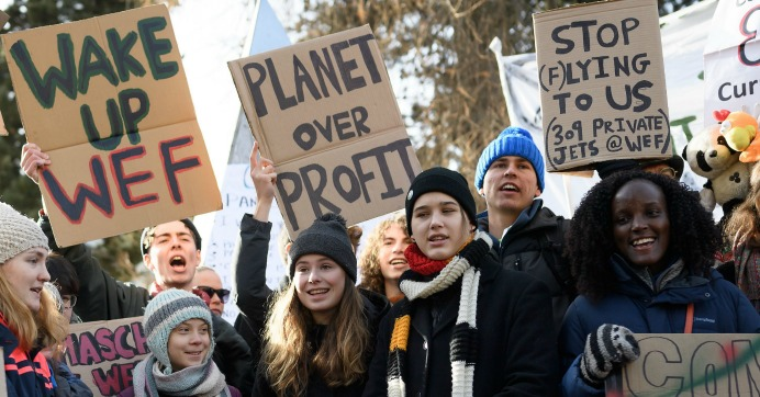 'We Have So Much More to Do,' Youth Climate Activists Declare as Global Elite Close Out Davos Forum
