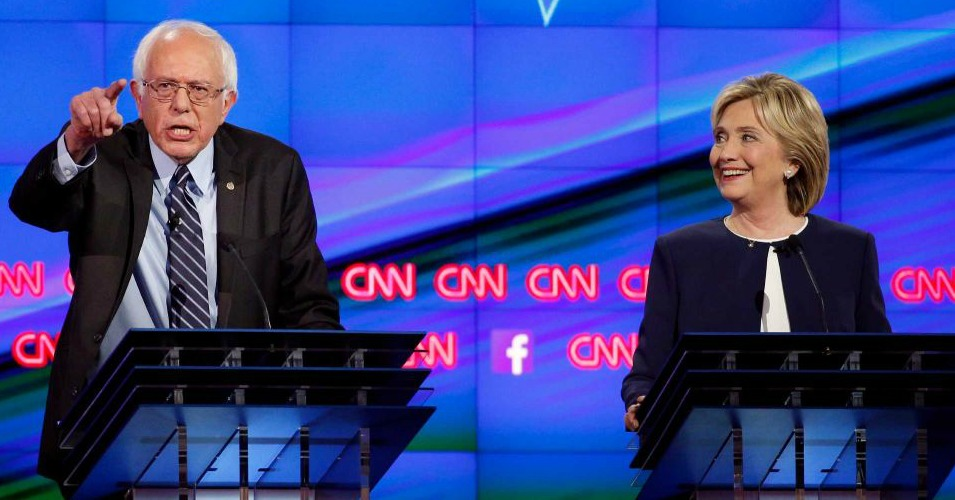 bernie and hillary duel as democrats debate