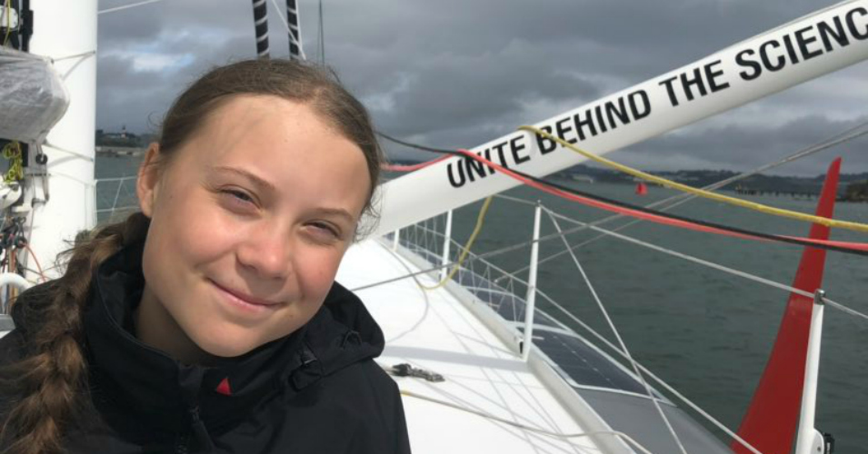 Well Wishes for Greta Thunberg as Teen Leader Sets Sail for US to Combat 'Climate and Ecological Crisis'