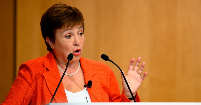 Managing Director of the International Monetary Fund (IMF) Kristalina Georgieva speaks on new research on the financial services sector and its impact on income inequality, in Washington, D.C, on January 17, 2020. (Photo: Jim Watson/AFP via Getty Images)