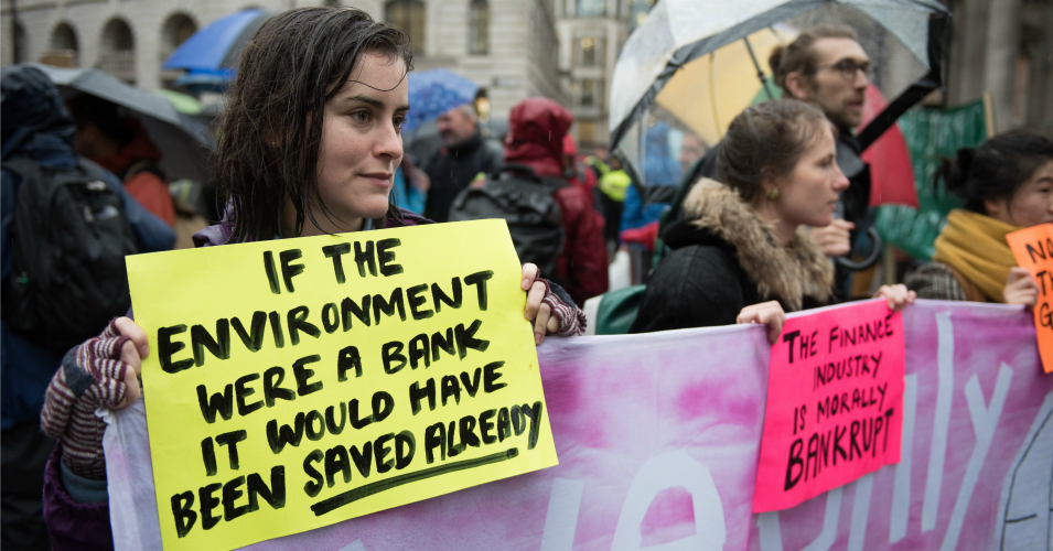 'Stop Funding Ecocide': Extinction Rebellion Protesters Target London