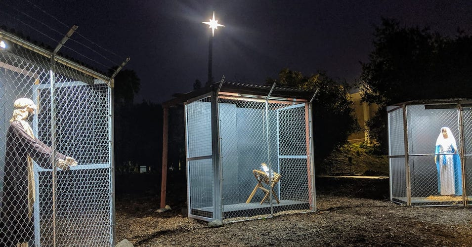 """""""It Is About Perseverance Against Cruelty"""": California Church's Nativity Scene Shows Holy Family Separated in Cages"""