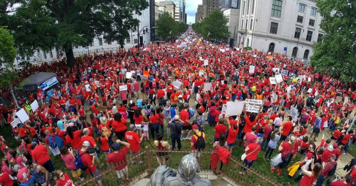 'Largest Act of Organized Teacher Political Action in State History' as North Carolina Joins National Wave