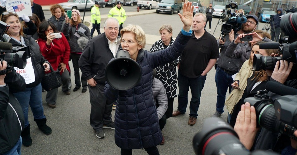 Steadily Gaining Ground in Polls, Elizabeth Warren Embraces Wall Street Fear of Her Campaign