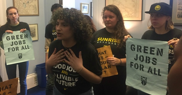 """Occupying Office of Another Key Democrat, Climate Activists Say """"Best Chance at Survival"""" for Humanity Is Green New Deal"""