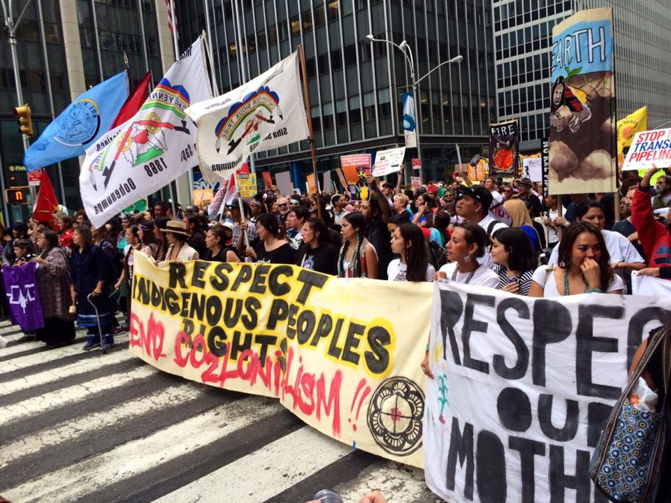 The Indigenous Environmental Network at People's Climate March September 21, 2014. (Photo: Our Power Campaign)