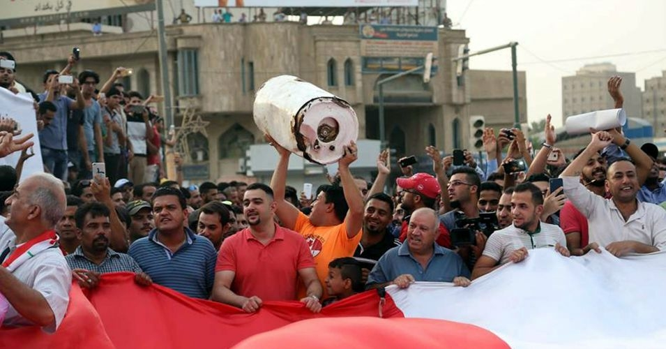Protesters in Baghdad this summer protested over power outages, clean water shortages, and poor living conditions amid a dramatic heat wave this summer. (Photo: Mohammed Jalil/European Pressphoto Agency)