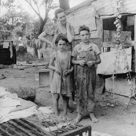 "the beast is starved welcome to the next great depression""well, if past is prologue, welcome to the next great depression \"" (photo of mother and children during the great depression in elm grove, california by"