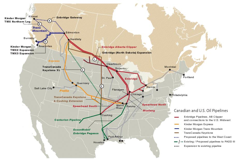 Natural Gas Pipeline Map Canada