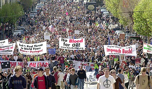 Image result for iraq war protest 2003