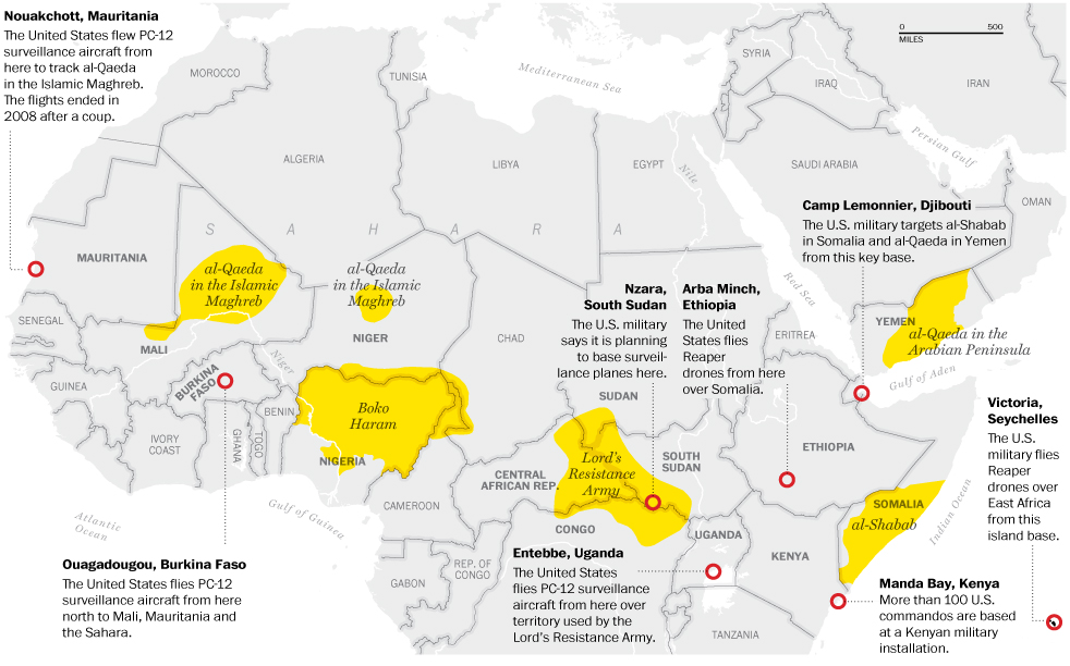 Expanding US Shadow War In Africa Builds Spy Network Common Dreams - Map from us to africa