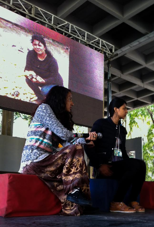 """Berta Zuniga Cáceres, Laura Zuniga Cáceres, and Gustavo Castro Soto presenting on """"the Revolutions of Berta Cáceres"""" at the opening session of the international Forum on Emancipatory Paradigms. Havana, January 10, 2017. (Credit: Beverly Bell)"""