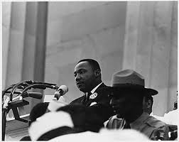 Rev. Dr. Martin Luther King, Jr. speaking at the March on Washington on Aug. 28, 1963. (U.S. Information Agency photo.)