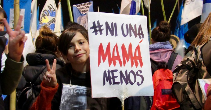 A sign seen at an anti-femicide protest in Buenos Aires this June. (Photo: Colores Mari/flickr/cc)