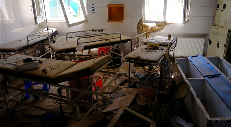 Hospital beds lay in the MSF hospital in Kunduz, Afghanistan, about six months after an American airstrike killed dozens of patients, some of whom burned to death in their beds. (Photo: Reuters)