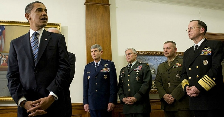 President Obama pictured during his first visit to the Pentagon since becoming President January 28, 2009. (Photo: DOD/public domain)