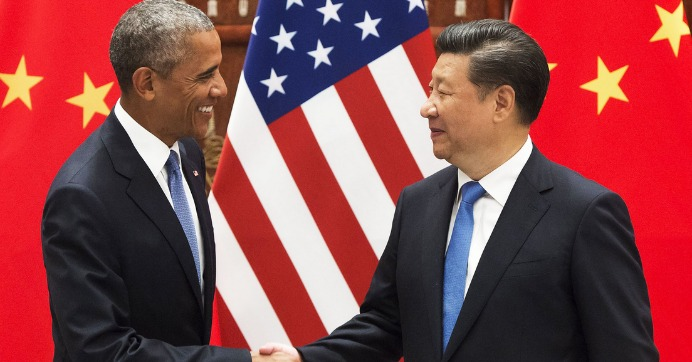 U.S. President Barack Obama and Chinese President Xi Jinping meet in Hangzhou on Saturday, September 3, 2016. (Photo: Getty)
