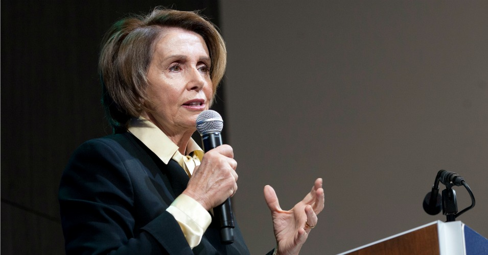 House Minority Leader Nancy Pelosi, who opposed the last Fast Track measure in 2002, has purposefully declined to say how she'll vote this time around. (Photo: Brookings Institution/flickr/cc)