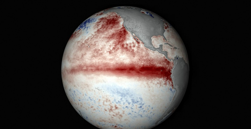 A rendering of current El Nino conditions. (Photo: NOAA/flickr/cc)