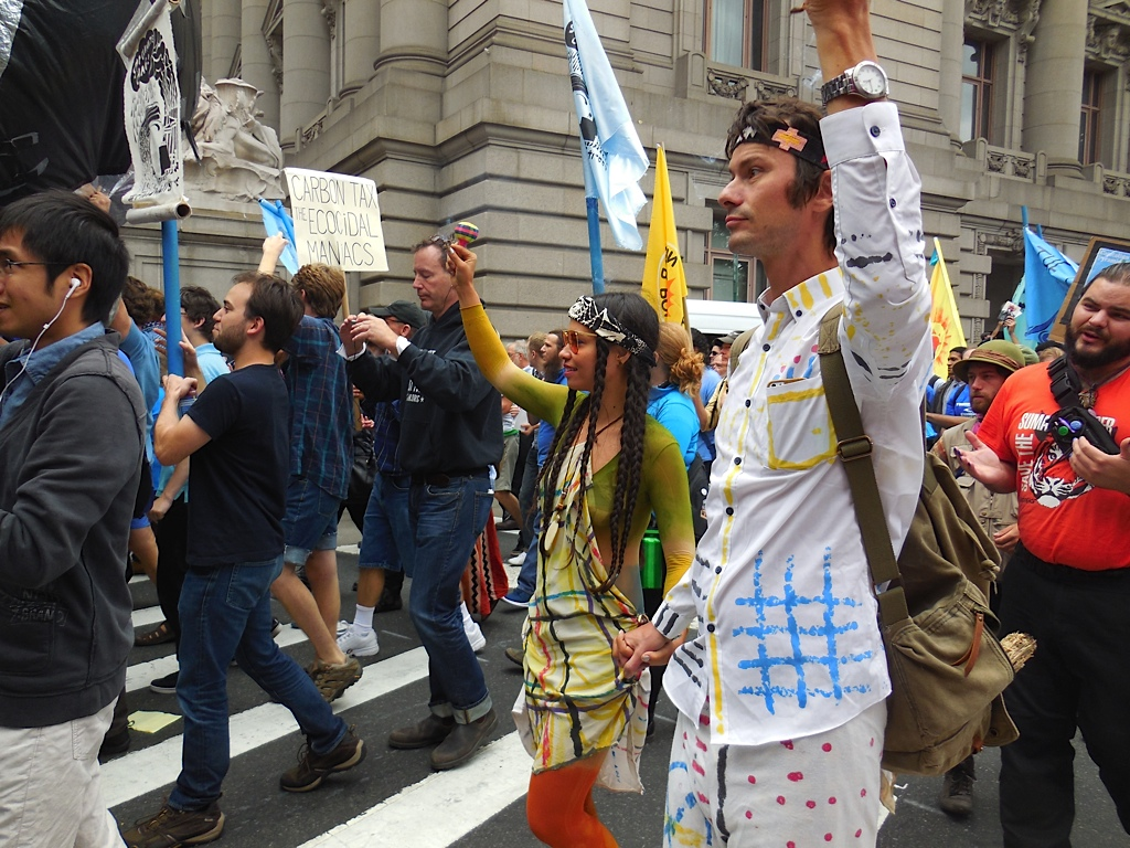 Activists join the protest at Flood Wall Street on September 22, 2014. (Photo: Meaghan LaSala/Creative Commons)