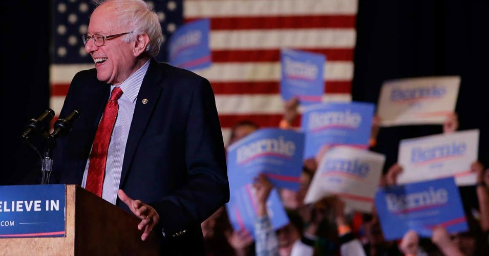The loss in Nevada won't slow down the campaign's momentum, Sanders said from South Carolina on Sunday. (Photo: AP)