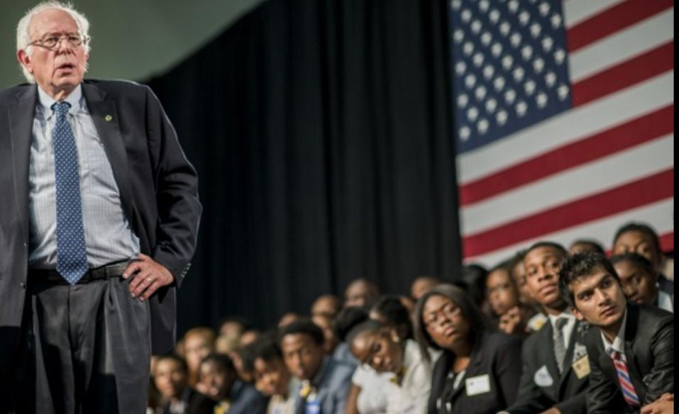 Democratic presidential candidate and Vermont Sen. Bernie Sanders addresses young voters at the historically black Benedict College in Columbia, S.C. (Photo: Melina Mara/The Washington Post)
