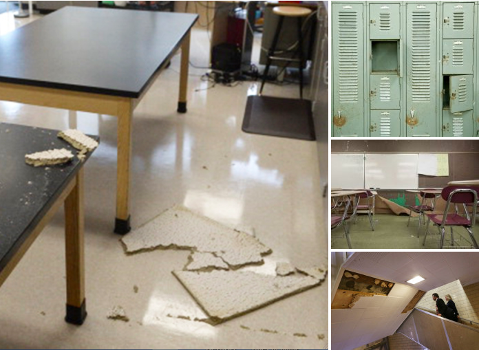 Photos taken in schools in Detroit, Michigan. (via Steven Singer)