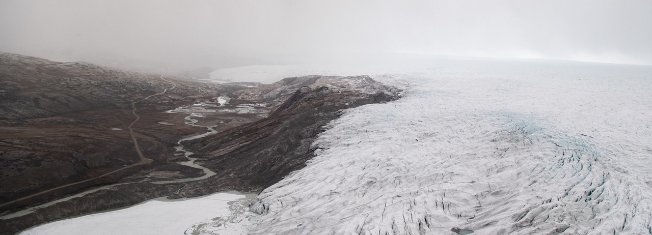 Greenland ice seen durin a helicopter tour