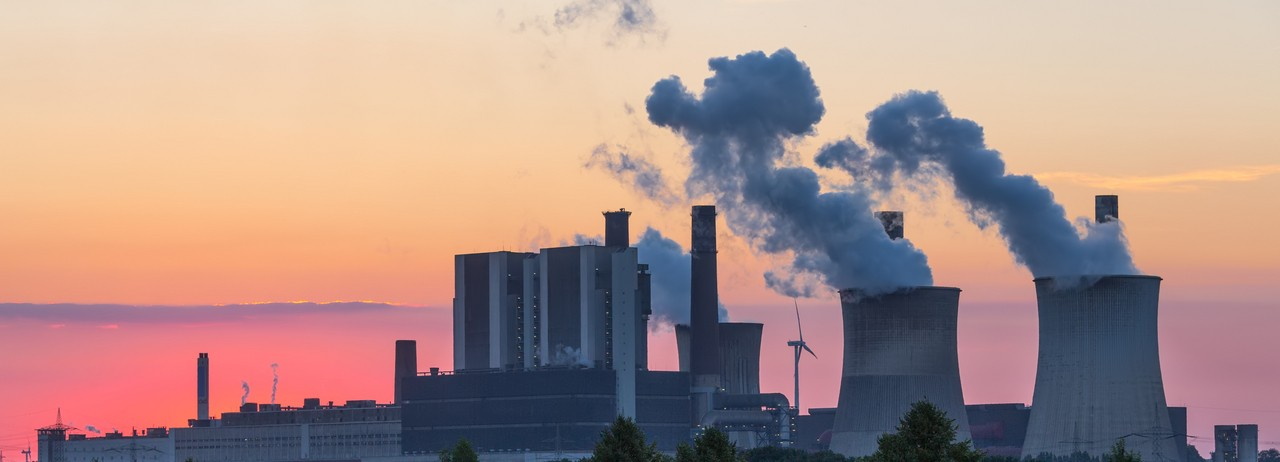 A coal-fired power plant.