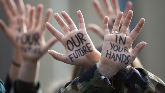 """""""our future in your hands"""""""